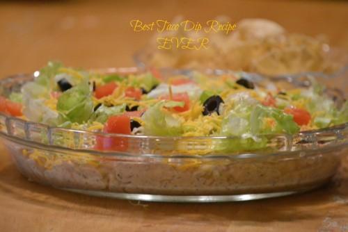 Best Taco Dip Recipe EVER!
