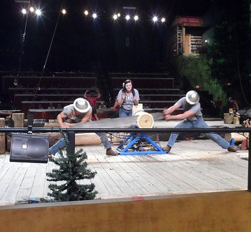 Lumberjack Feud and Dinner Show. things to do in pigeon forge, shows in pigeon forge,