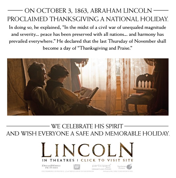 LINCOLN Wishes You a Happy Thanksgiving – And So Do I!
