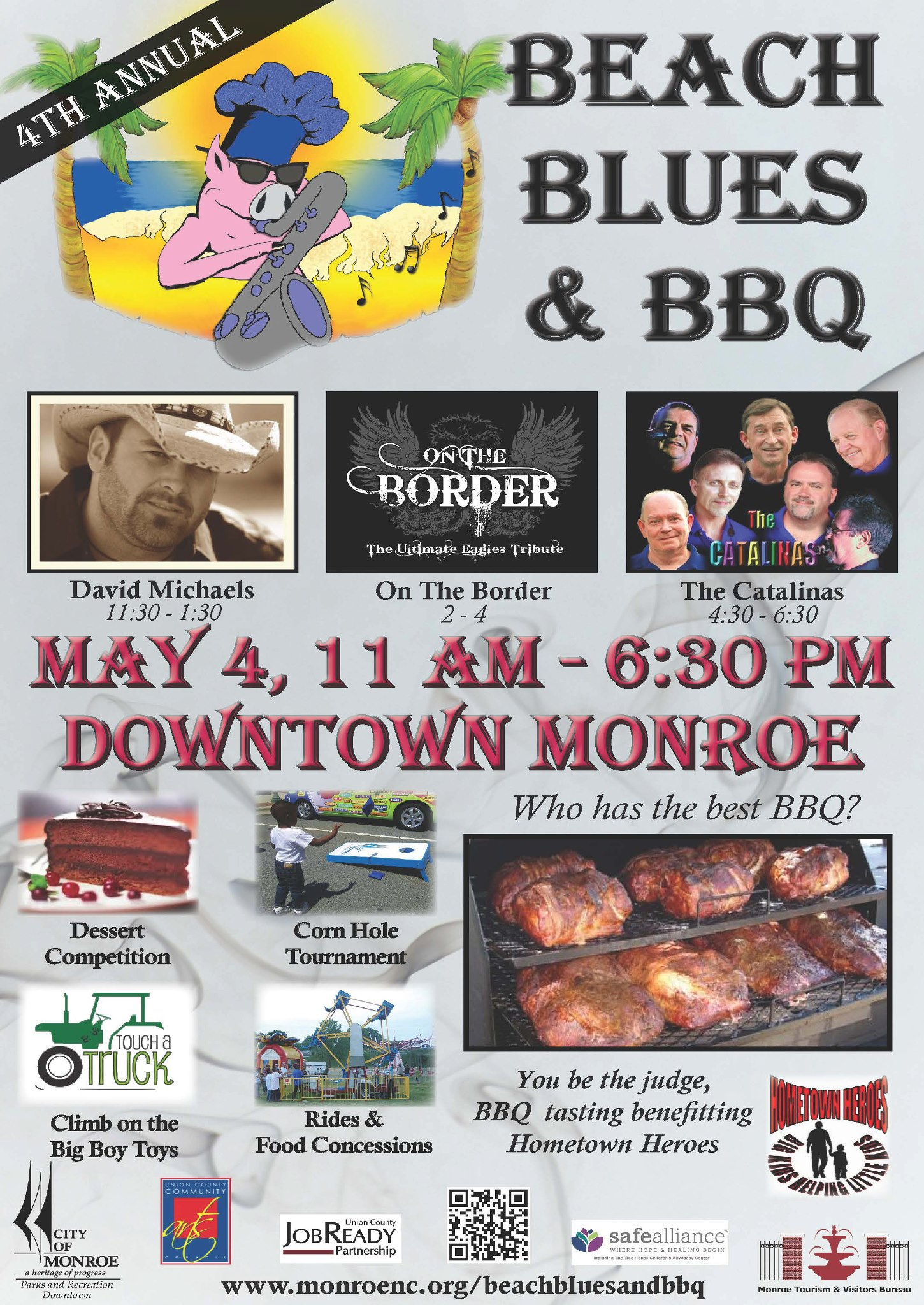 Tickets for the Beach, Blues, and BBQ Festival – Monroe, NC May 4th