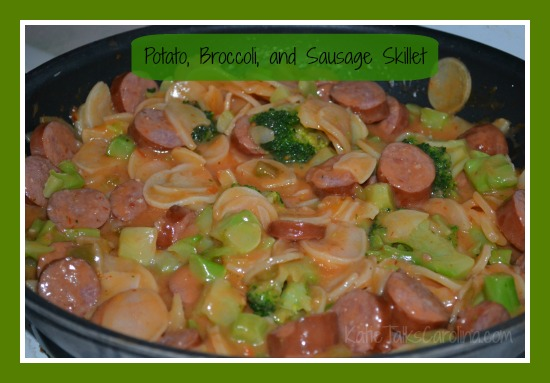 Potato, Broccoli, and Sausage Skillet Recipe