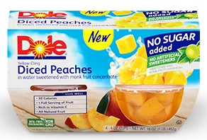 Dole no sugar added peaches