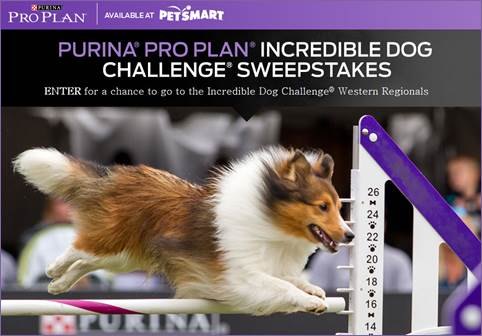 Purina Pro Plan Incredible Dog Challenge Sweepstakes #GreatDog2014 – Plus Giveaway!