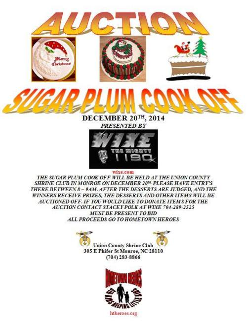 Sugar Plum Cook Off 2014