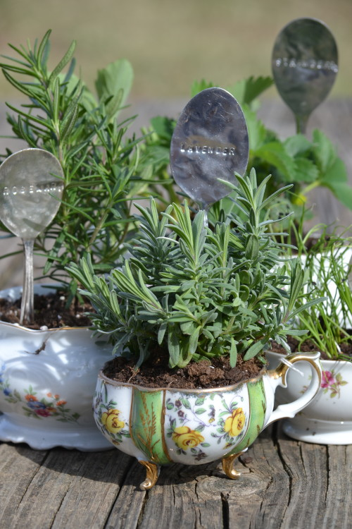 Repurpose Old Teacups and Spoons
