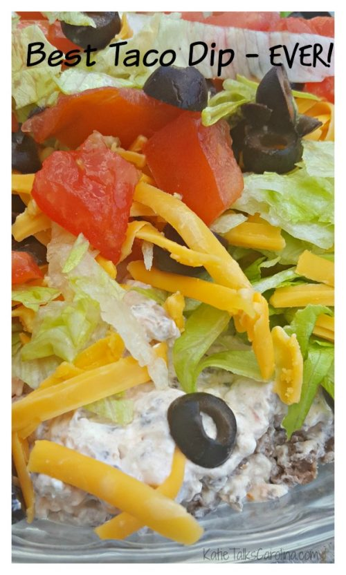 Best Taco Dip Recipe EVER!