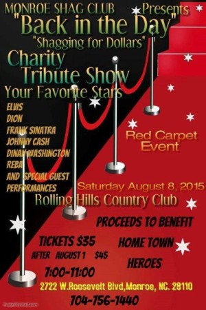 Shagging For Dollars Monroe Shag Club to Benefit HomeTown Heroes August 8, 2015