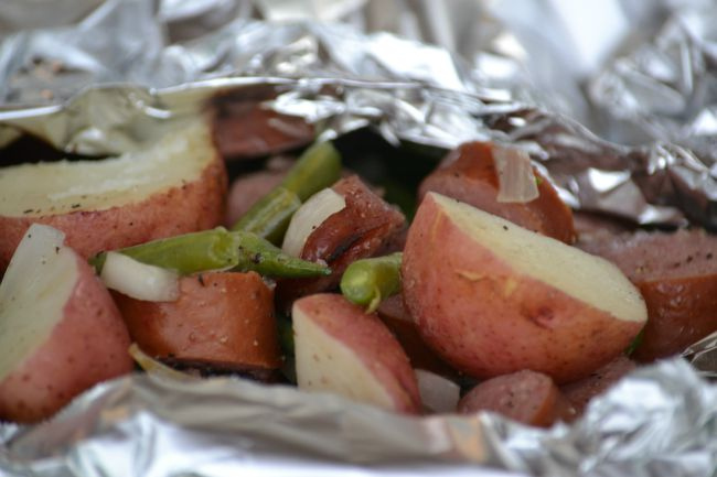 Sausage with Green Beans and Red Potatoes Recipe