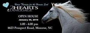 Equine Facilitated Learning Center, Two Hearts One Language Open House January 30th