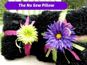 no sew craft, no sew pillow craft, no sew