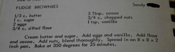 fudge brownie recipe