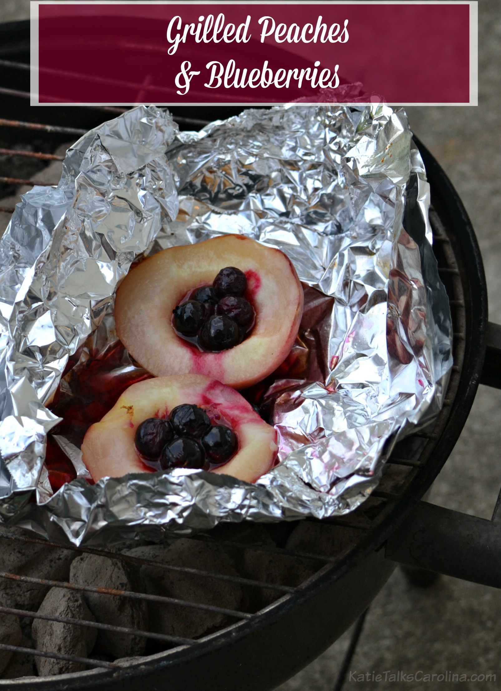 Grilled peaches and blueberries