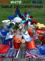 Easy Red White and Blue Table Decorations on a Budget