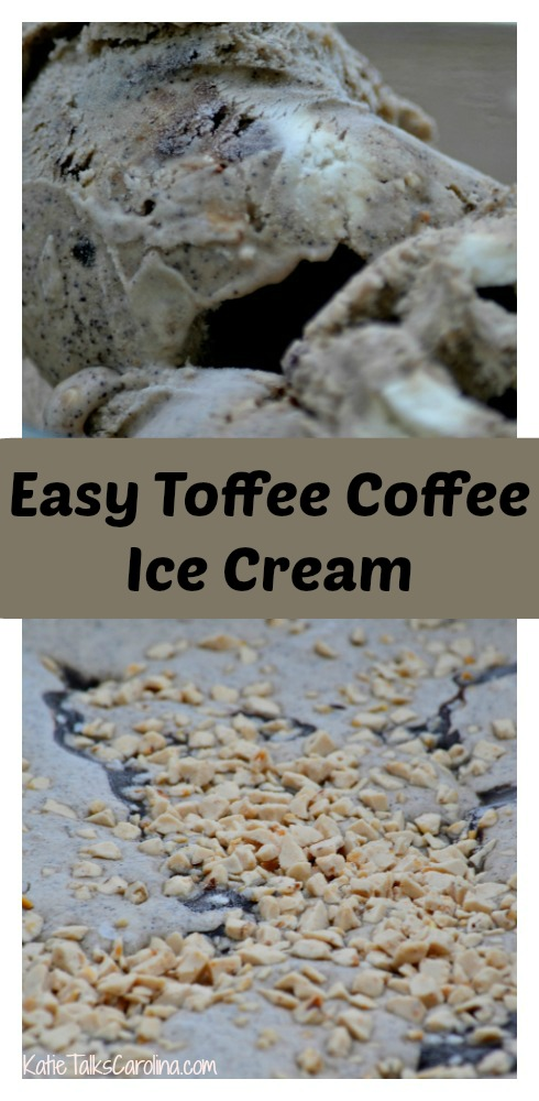 Easy Toffee Coffee Ice Cream
