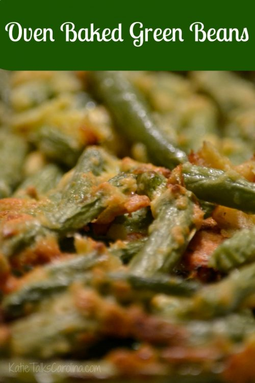 Oven Baked Parmesan Green Beans