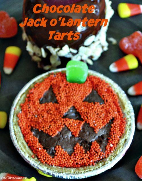 Chocolate Jack O Lantern Tarts