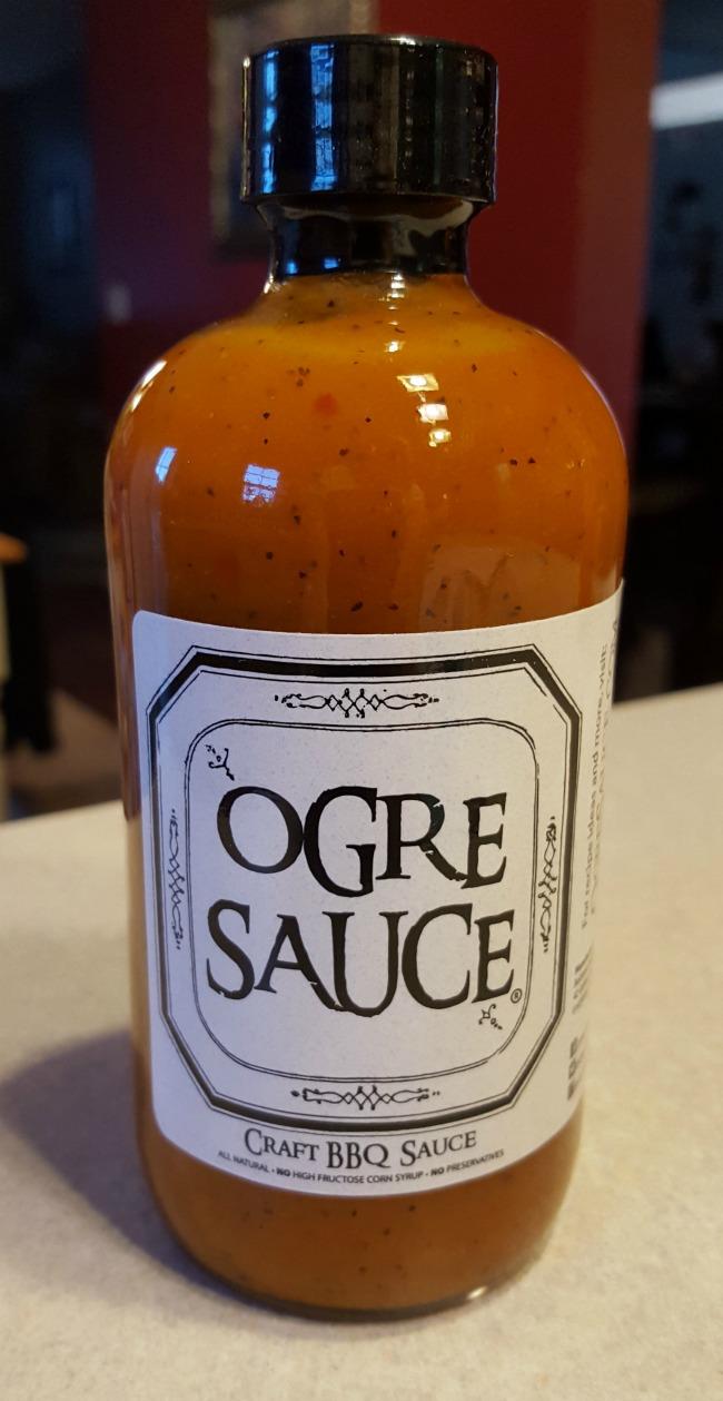 bbq chicken won tons ogre sauce