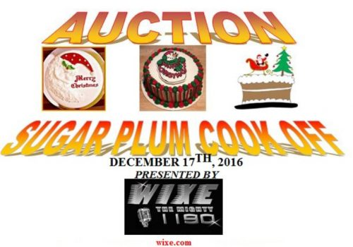 Sugar Plum Cook Off December 17th Presented by WIXE 1190 – Benefiting HomeTown Heroes