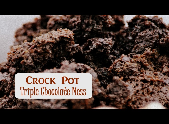 Crock Pot Triple Chocolate Mess