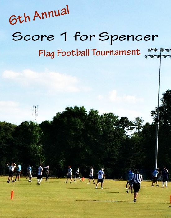 Score 1 for Spencer Flag Football Tournament
