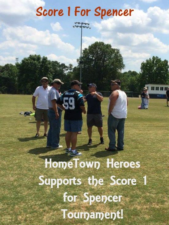 Score 1 for Spencer Flag Football Tournament