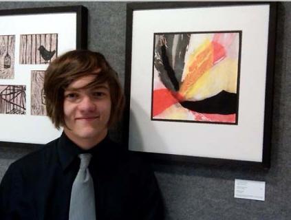 My Nephew Rocks at the Annual Upstate High School Art Exhibit
