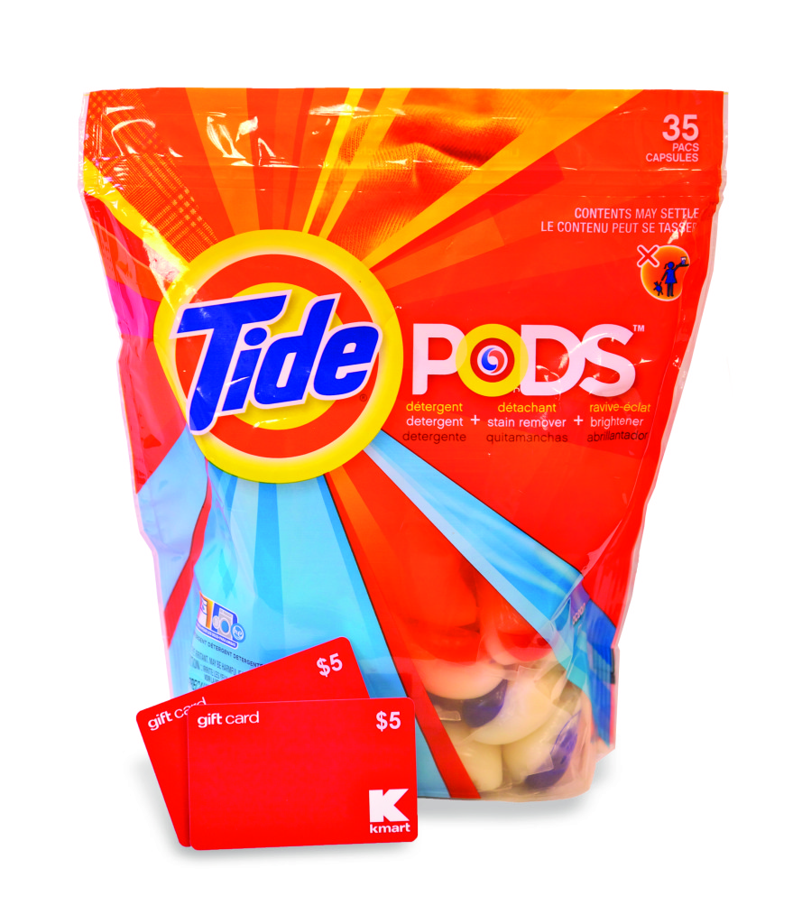 P&G and Kmart are offering a FREE Bounce* 40 ct. with purchase of Tide 75 oz – Plus Giveaway