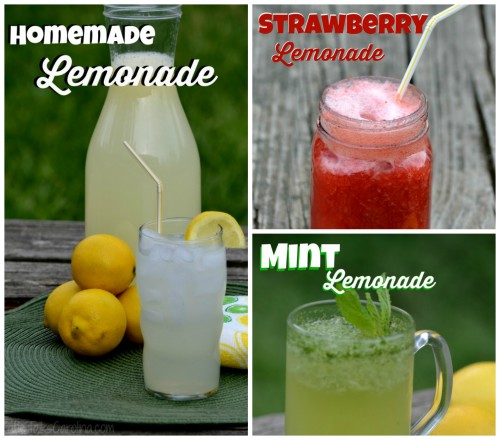 Lemonade Recipes – Lemonade Three Ways!