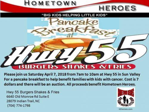Pancake Breakfast April 7 Benefiting HomeTown Heroes