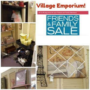25% Friends and Family at Village Emporium in Charlotte at my booth!